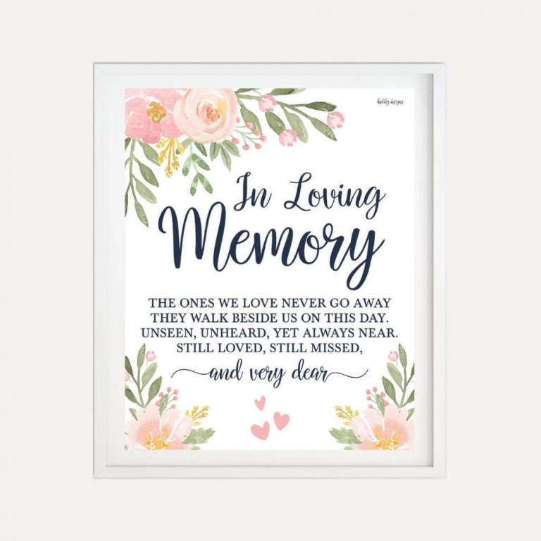 in loving memory template