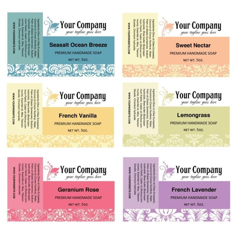 ingredient label templates