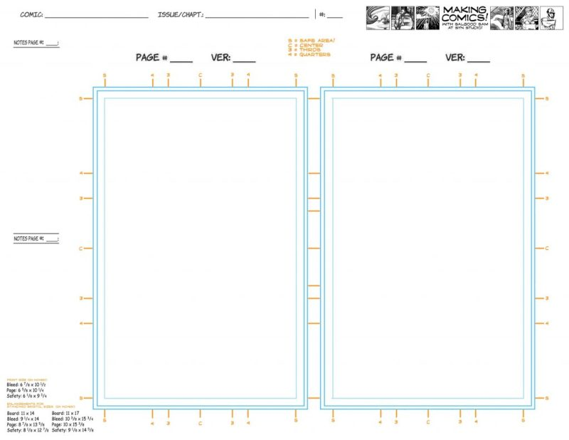 page aspect ratios templates making comics
