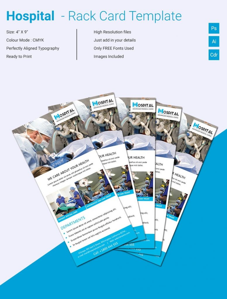 premium hospital card templates