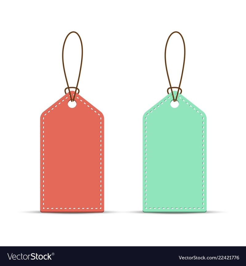 price tag template white background
