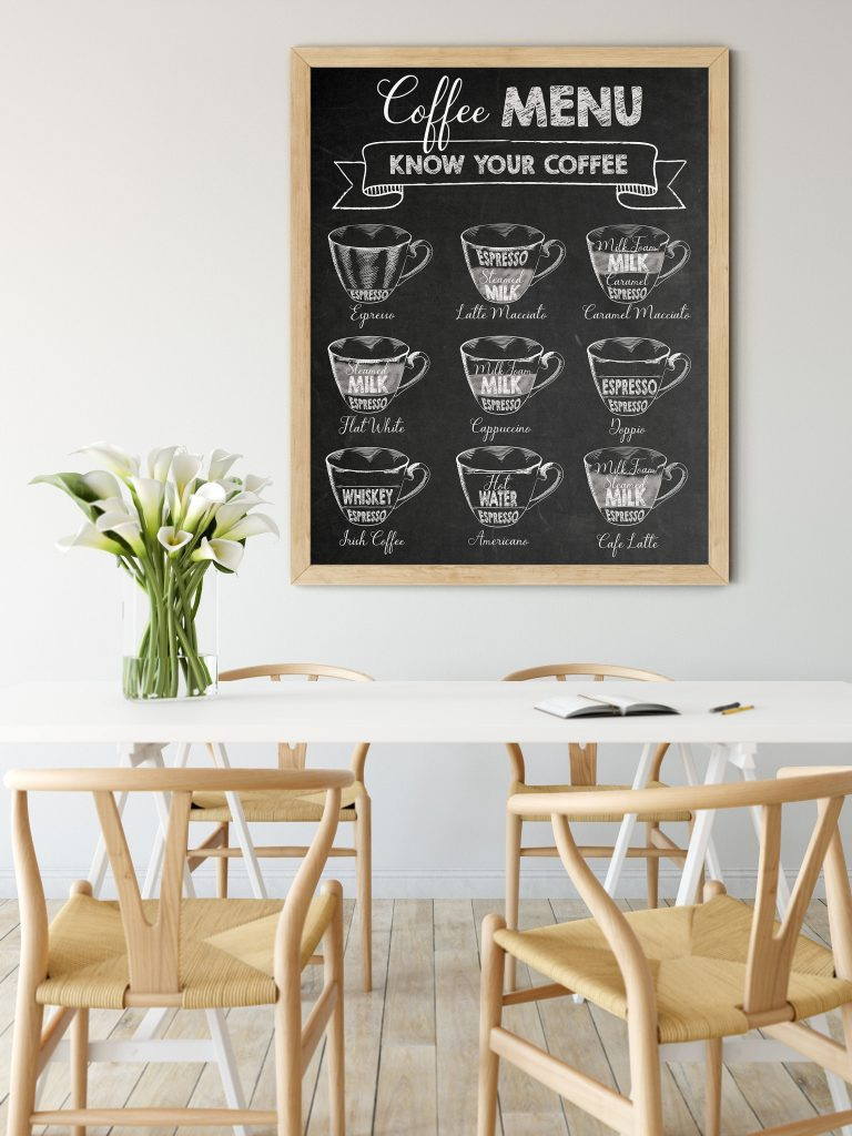 printable coffee menu digital