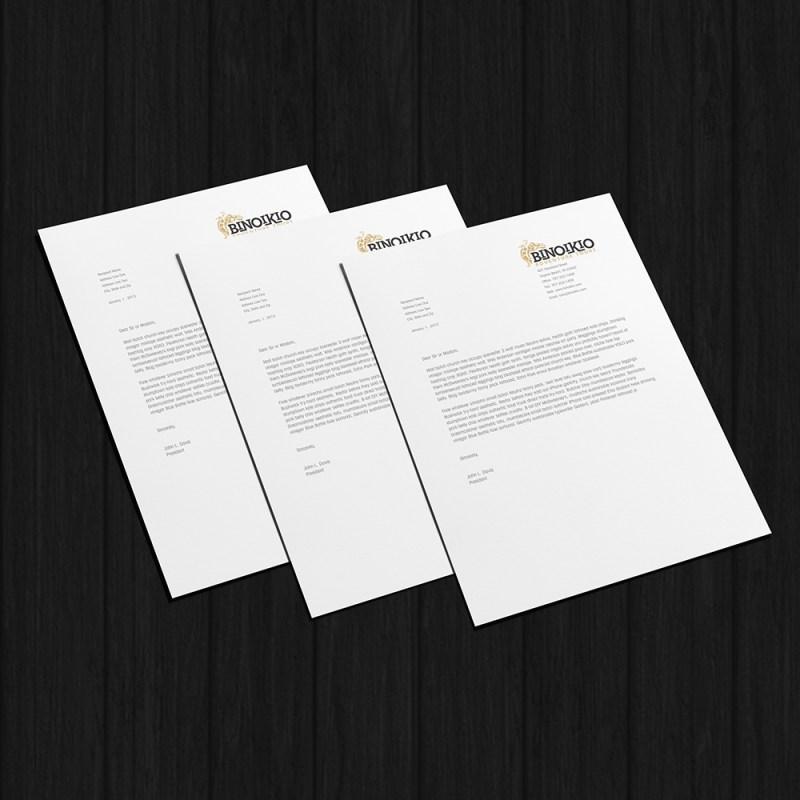 printable letterhead mockup tree sparks