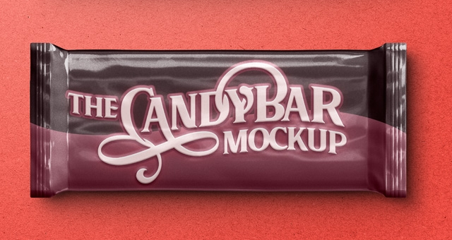 psd candy bar packaging mockup psd