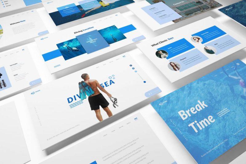 diving school white presentation