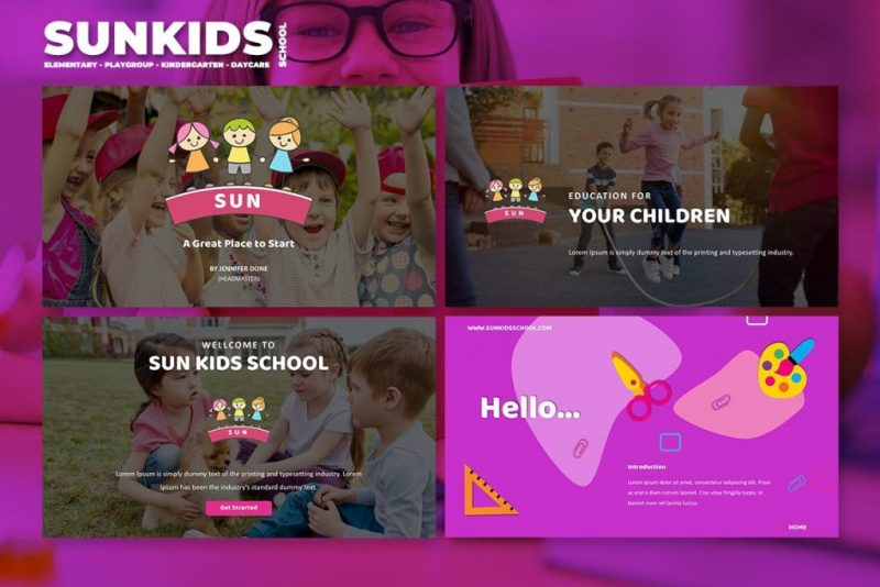 keynote template kids school and daycare