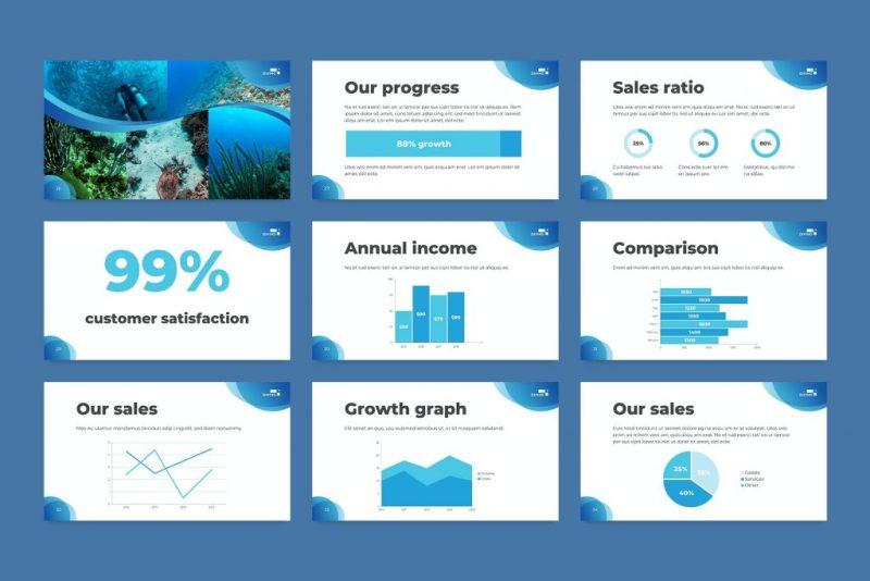schuba diving school powerpoint template