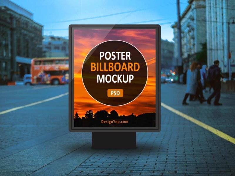 free outdoor poster billboard mockup mockuptree