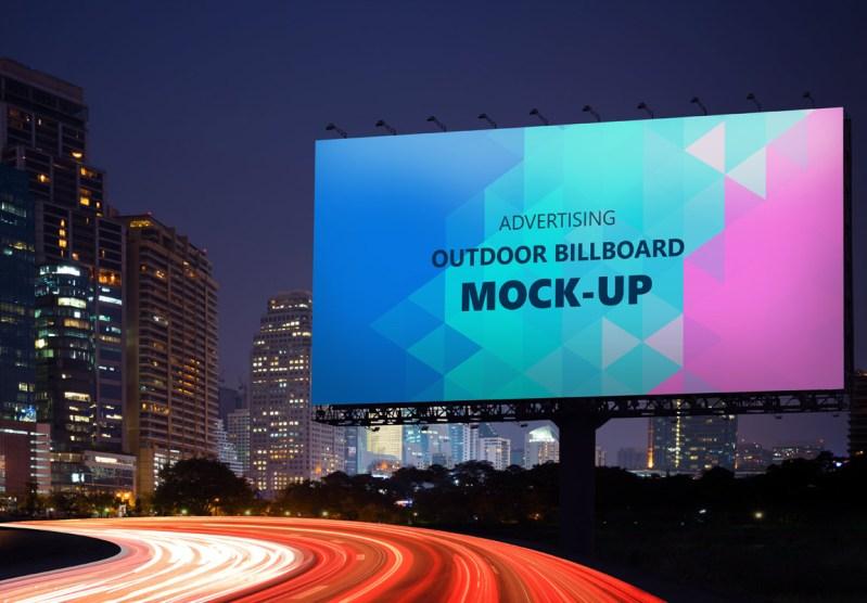 outdoor billboard mockup free 2020 daily mockup