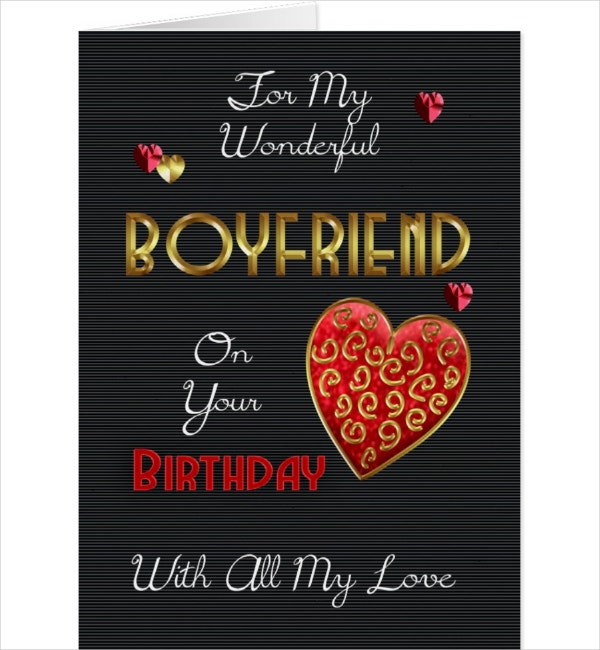 11 boyfriend birthday card designs templates psd ai