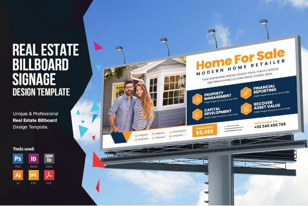9 free real estate billboard templates in ai psd free