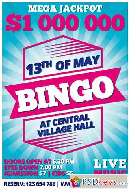 bingo psd flyer template facebook cover free download