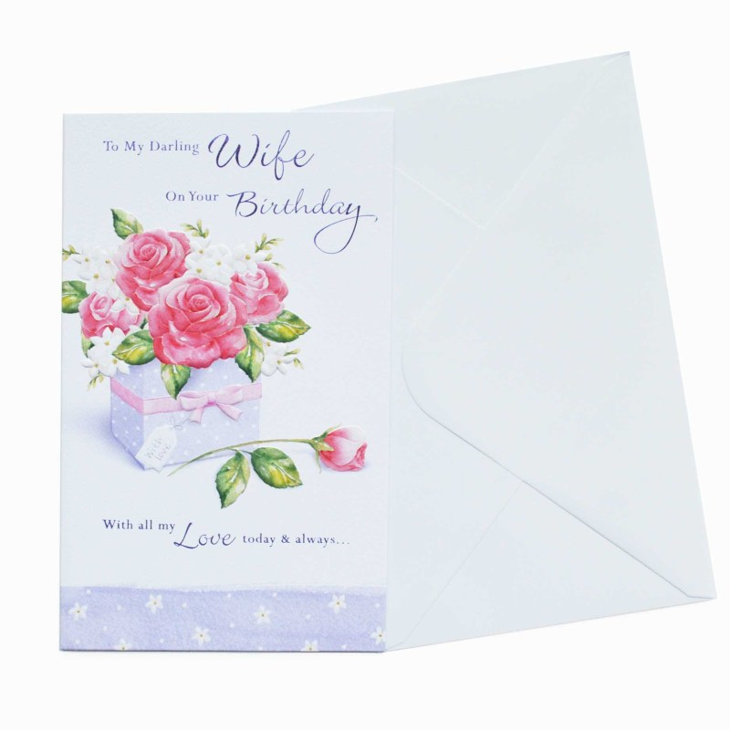 birthday card wife garlanna greeting cards