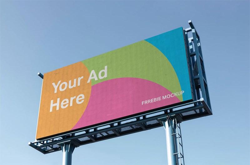 free landscape billboard mockup mockuptree