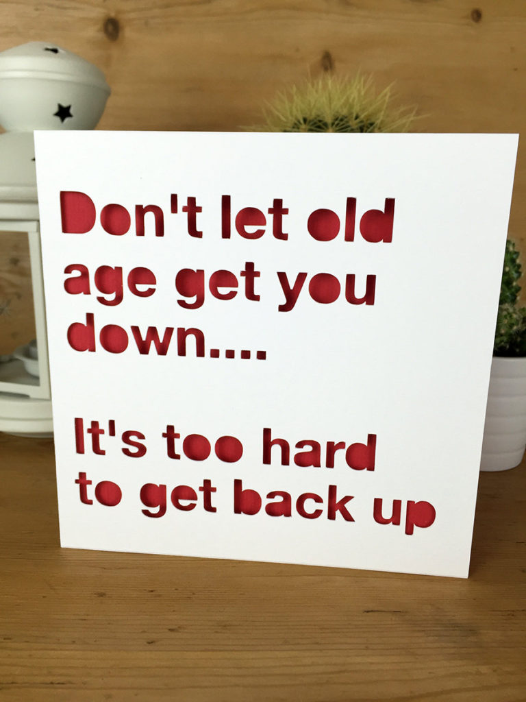 funny birthday card old age card for him for her friend etsy