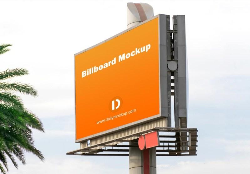 horizontal billboard mockup free download 2020 daily