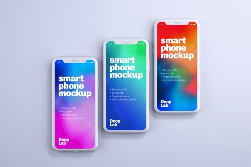 iphone 11 pro clay mockup set deeplab mockups