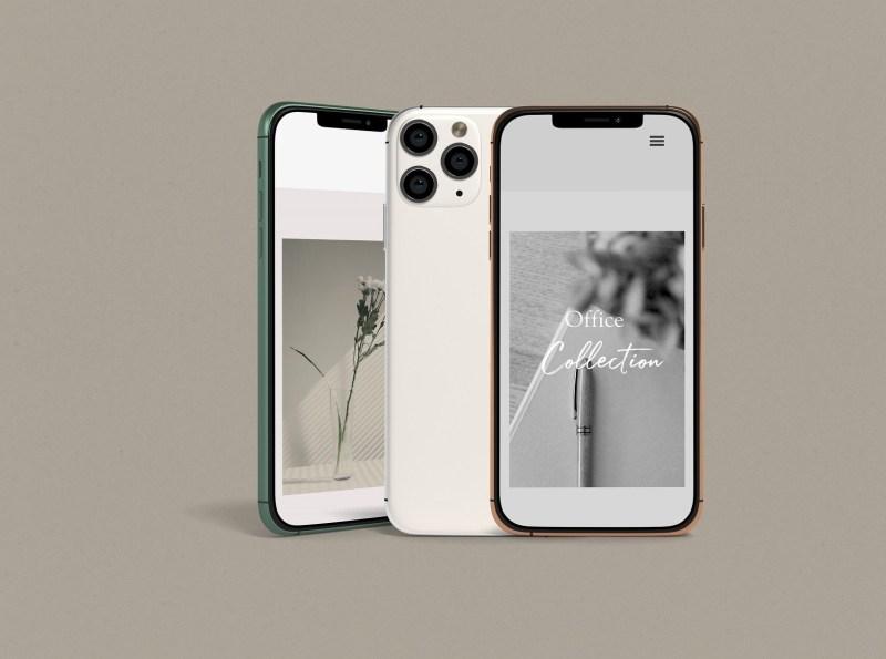 minimal iphone 11 pro mockup mockup5 on dribbble