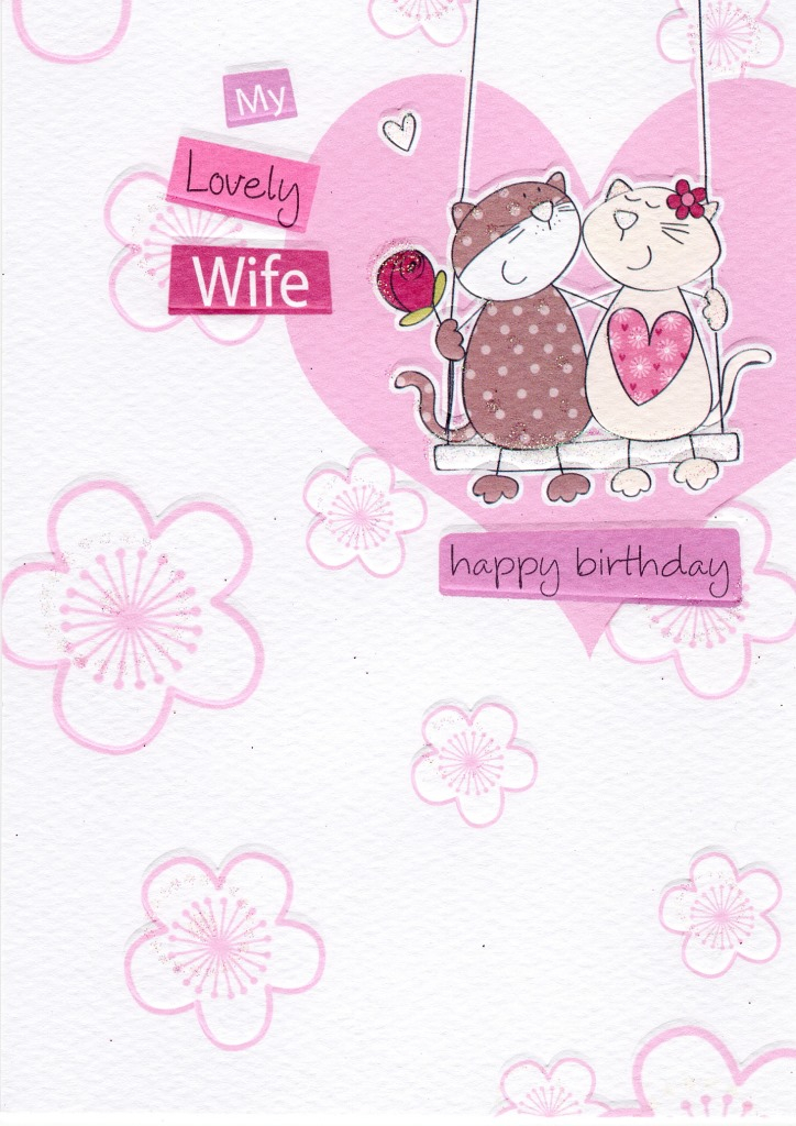 my lovely wife birthday greeting card cards