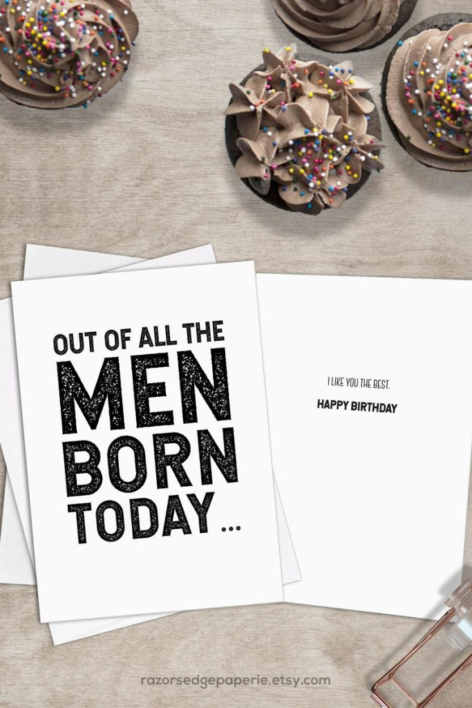 printable funny birthday card for him best friend gift for