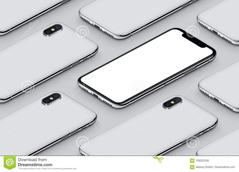 similar to iphone x perspective isometric smartphone