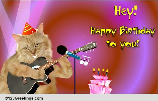 singing birthday cat free songs ecards greeting cards