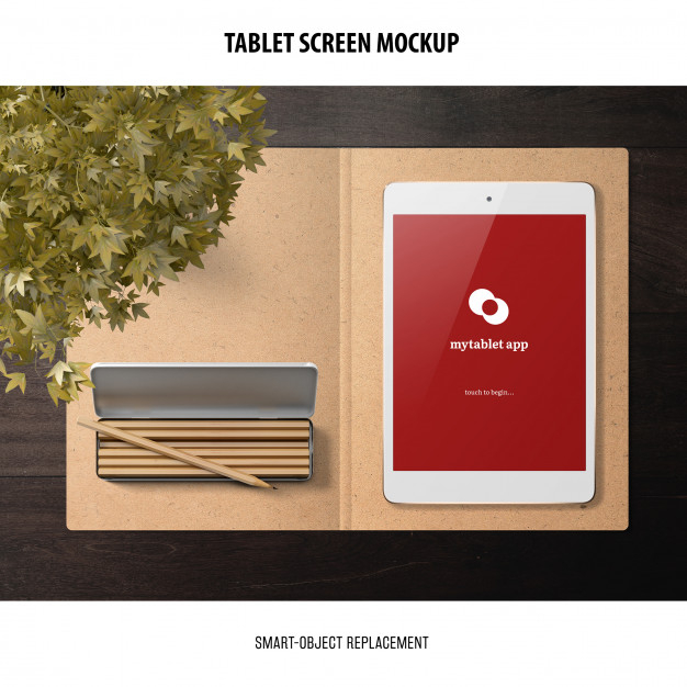 tablet screen mockup free psd file