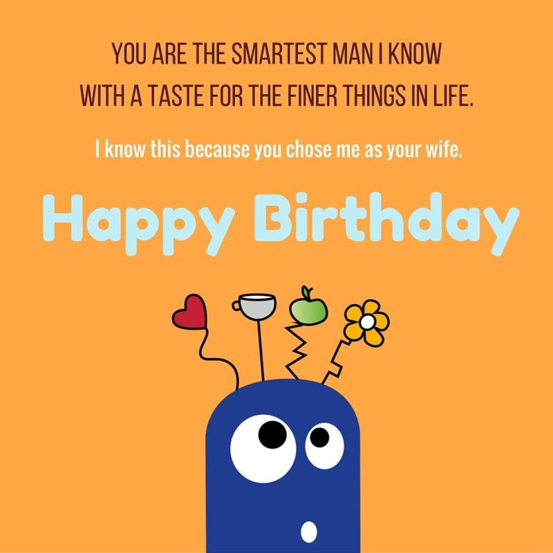 funny birthday wishes for wife from husband