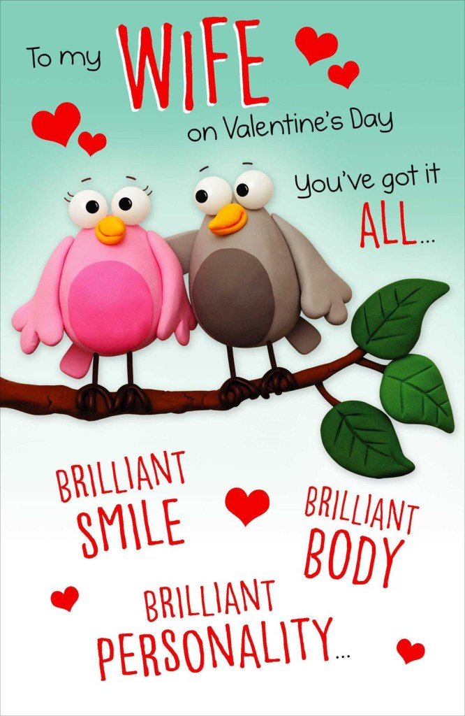 to my wife funny pop out valentines day greeting card cards