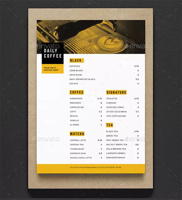 44 coffee shop menu templates free psd vector png ai