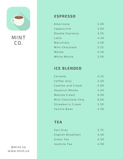 customize 69 coffee shop menu templates online canva