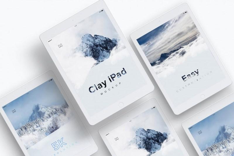 free download clay ipad mockup in psd designhooks