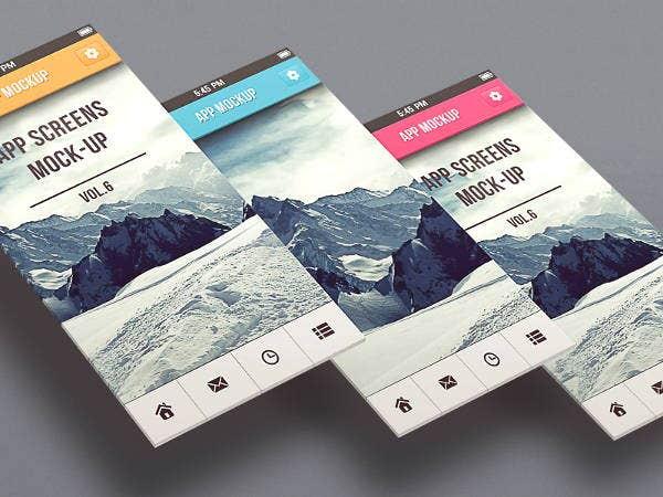 9 app design mockup templates free premium templates