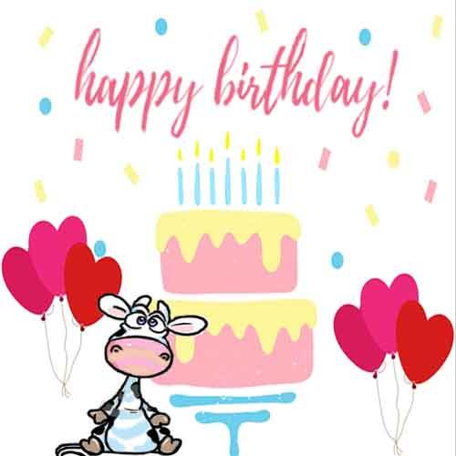 cute cow birthday card free happy birthday ecards