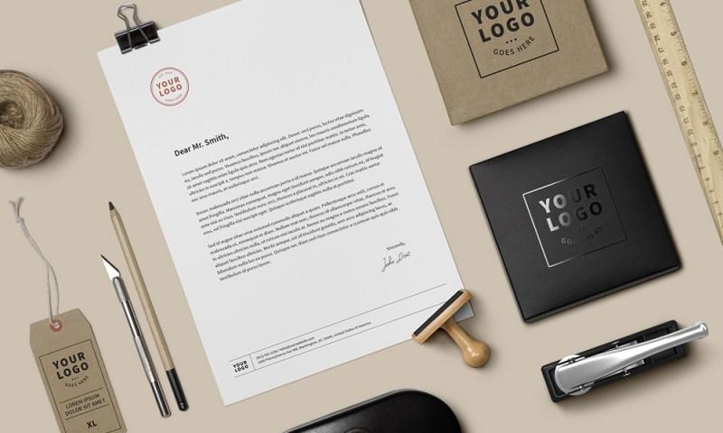 free creative branding stationary mockup
