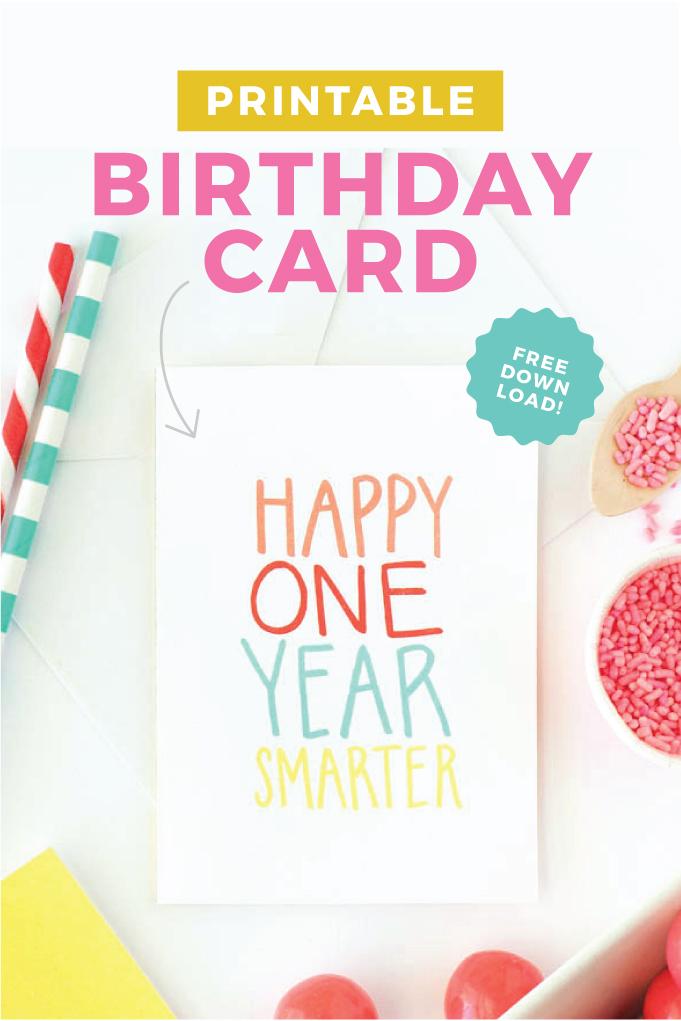 free printable birthday card design eat repeat