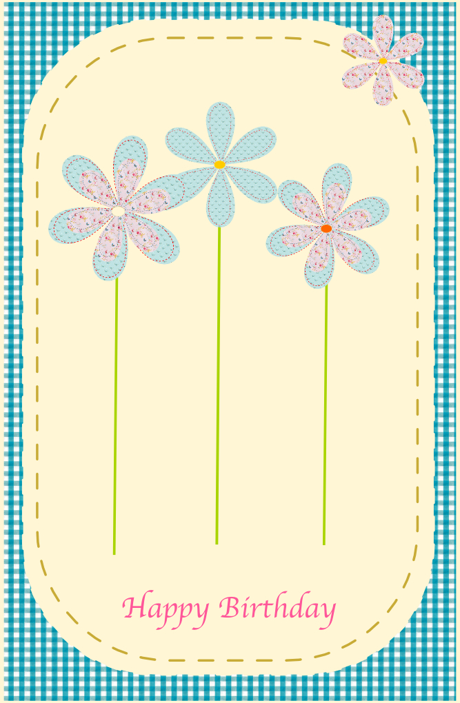 free printable happy birthday card in sewing style