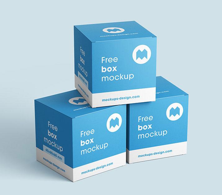 free realistic box mockup mockuptree