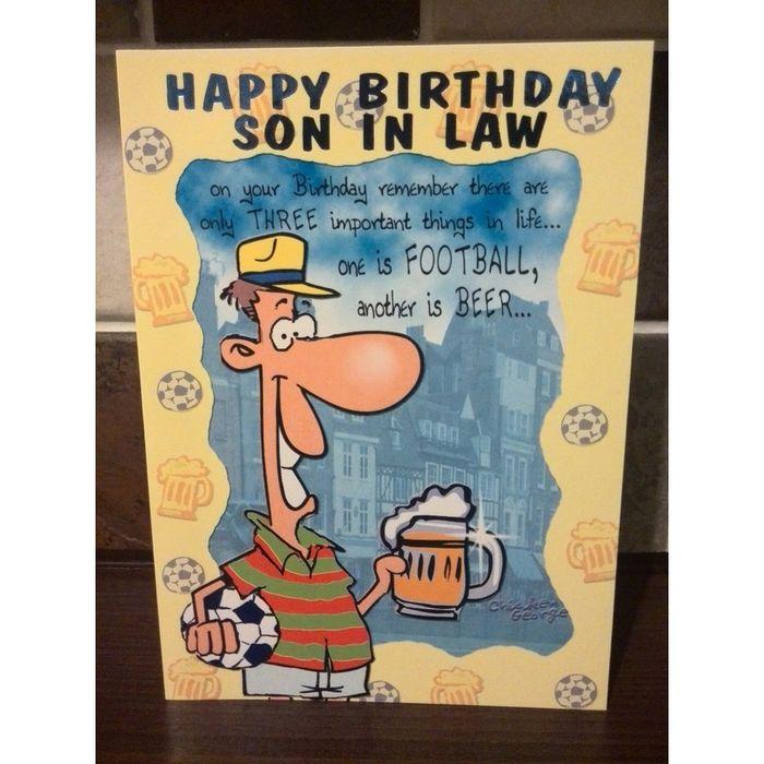 happy birthday son in law joke card 2 on ebid united