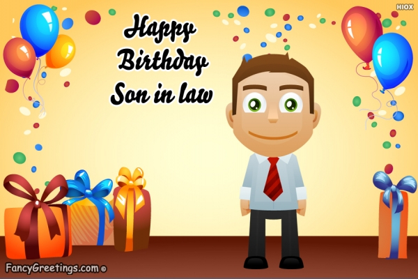 happy birthday wishes to son in law