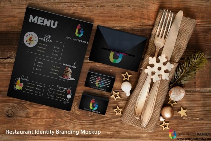 restaurant identity branding mockup graphicsfamily