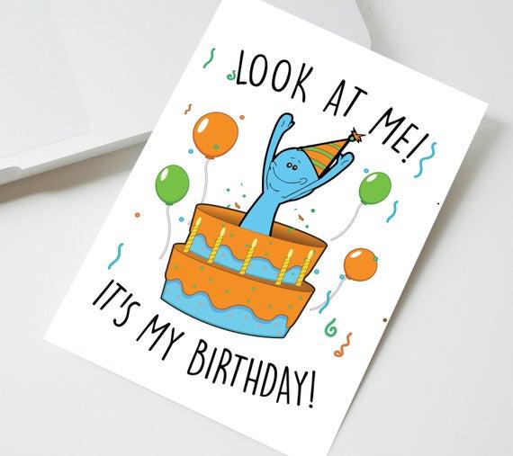 rick and morty birthday card printable rick and morty