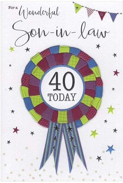 son in law 40th birthday card ebay