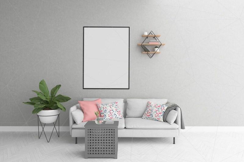 vertical frame mockup smart object