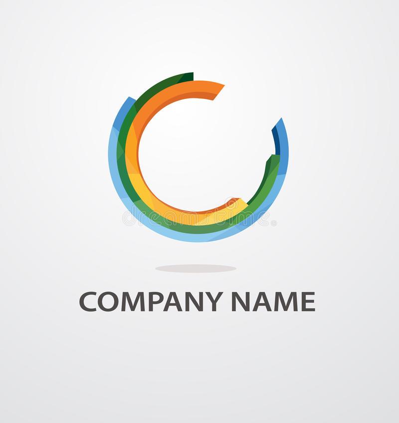abstract vector circle color logo design stock vector