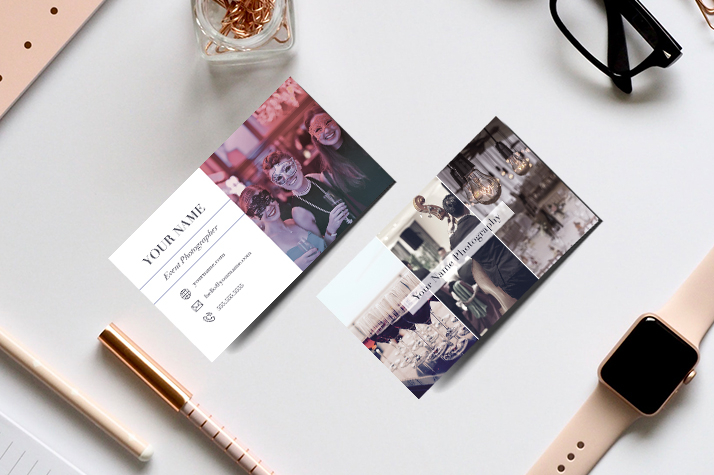 event photography business cards templates photoshop psd