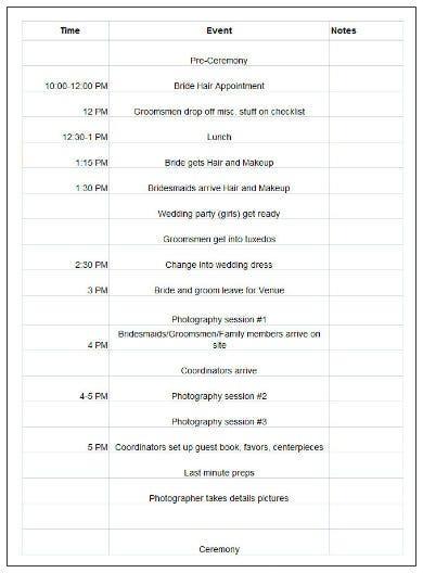 event schedule templates google docs google sheets ms