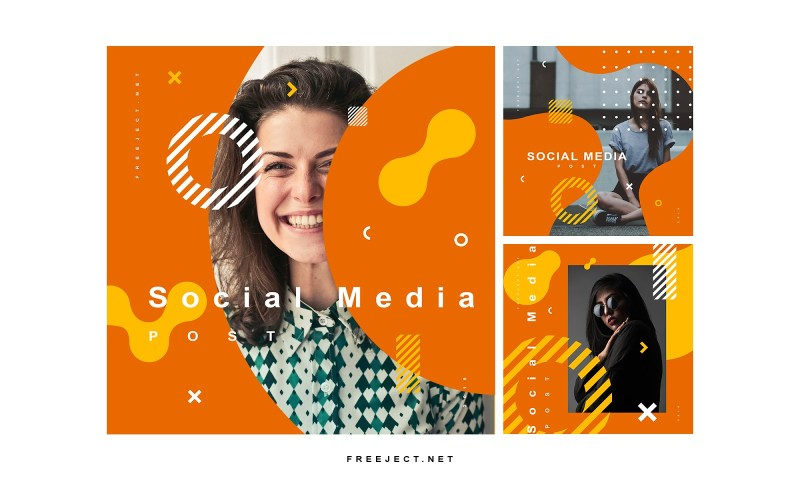 free download social media post template vol 3 psd file
