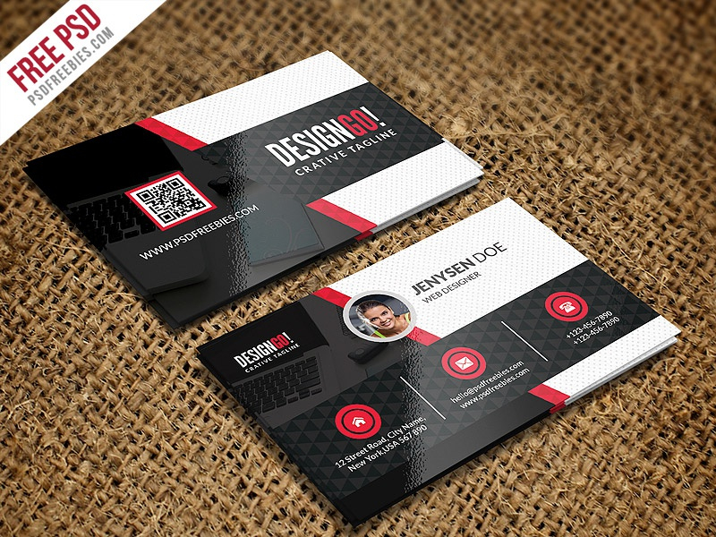 free psd creative and modern business card template psd