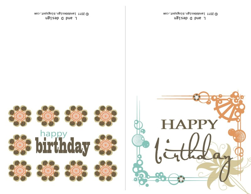 l and d design free birthday card printable